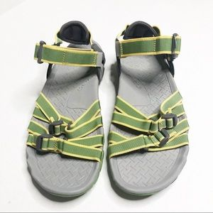 Teva Tirra green multiple adjustable strap sandal